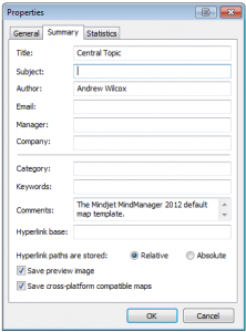 MindManager File Properties